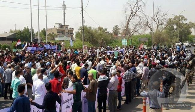 Rights refuses to suppress protesters in Basra and demands accountability of those responsible for killing the demonstrator