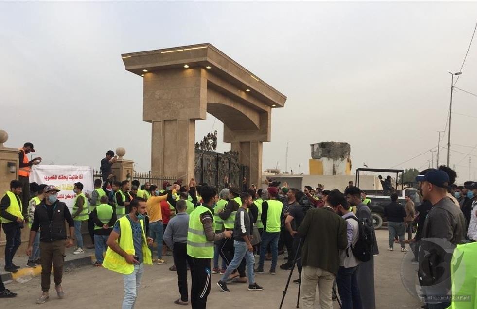 حقوق  يدين بشدة اعتقال خمسة صحافيين بسبب تغطية تظاهرات البصرة ويطالب عبد المهدي بالتدخل