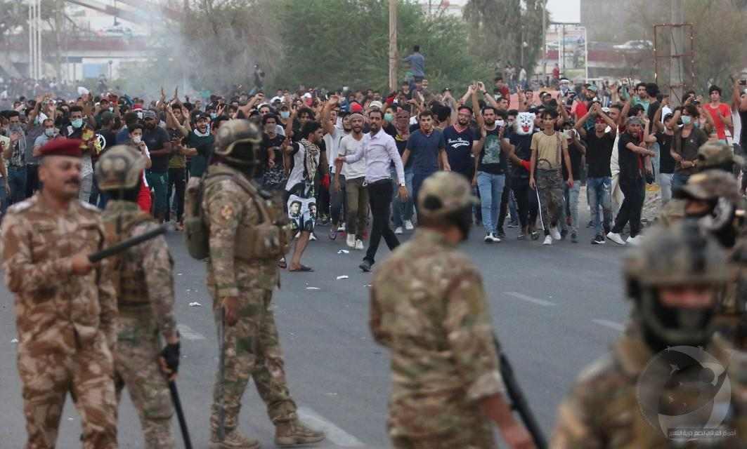 حقوق يدين اعتقال ستة متظاهرين في البصرة ويطالب السلطات بالكف عن الاستهداف