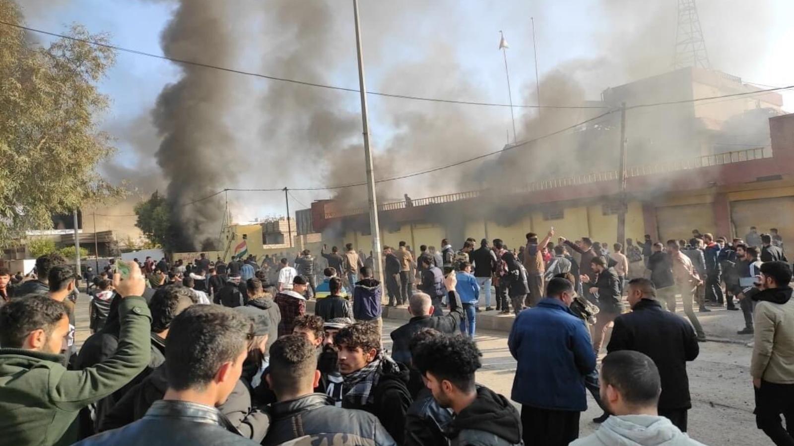 خلال 24 ساعة..  حقوق  يسجل مقتل 3 متظاهرين وملاحقات للصحفيين في تظاهرات الإقليم